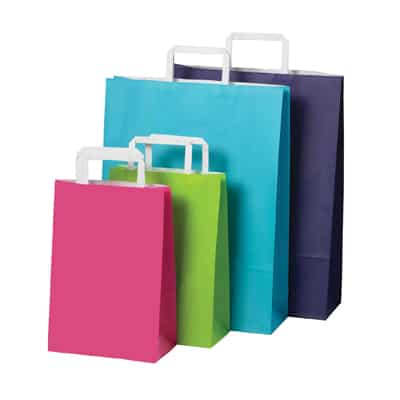 Bright Flat Fold Handle Carry Bags