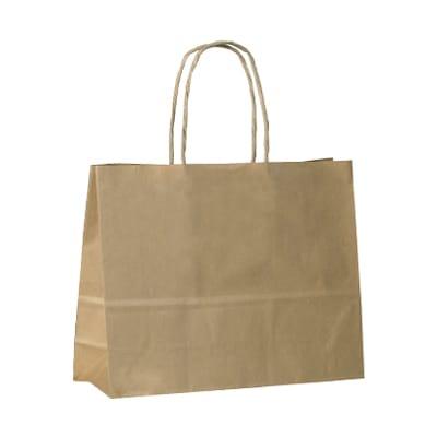 Brown Twist Handle Petite Carry Bags