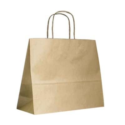 Brown Twist Handle Carry Bags