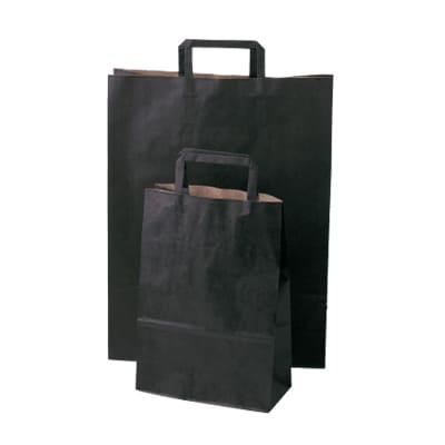 Bright Flat Fold Handle Carry Bags Midnight