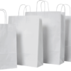 White Twist Handle Carry Bags